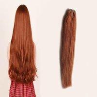 auburn remy pelo virgen al por mayor-Armadura peruana del pelo humano de la Virgen del pelo recto Hermosa princesa Hair Non-remy 100g 1pcs # 30 Auburn Brown