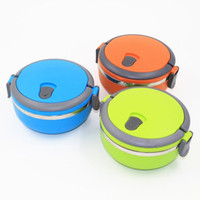 Wholesale food discount - New Stainless Steel Lunch Box with handle for Food Container insulation Student Bento box Dinnerware discount sale