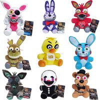 Wholesale New Arrival Five Nights At Freddy s FNAF Plush Toys cm Freddy Bear Foxy Chica Bonnie Plush Stuffed Toys Doll for Kids Gifts