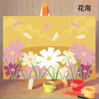 Wholesale Diy Painting Kids - Handpainted Framed 1Set DIY Digital Oil Painting By Numbers Flowers Cartoon Canvas Pictures For Kids Drawing Oil Painting