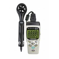 Commercio all'ingrosso- TENMARS TM-403 Meter Air Meter Anemoscopio Air-Speed ​​Anemometro -20 ~ 60 C