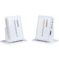 drahtloses hdmi audio großhandel-Freeshipping 1080P drahtloser HDMI Extender Video Audio Transmission 30M / 100ft Sender + Empfänger mit HDMI1.4 HDCP1.4 3D für HDTV STB DVD