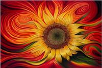Wholesale Sunflower Paintings - Ne needlework Diy diamond painting cross stitch kits full resin round diamond embroidery Mosaic Home Decor sunflower YY0086
