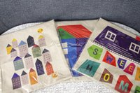 Wholesale 100pcs linen cotton BIG BIG HOUSE Decorative Pillow Case Sofa Cushion Cover CM