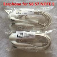 micrófono iphone5 al por mayor-original caja de cristal de alta calidad Auriculares 3.5mm Manos libres con Micrófono para iphone5 6 6 plus 6splus y s6 s7 note5 headset