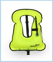ingrosso donna gonfiabile reale-All'ingrosso-2017 nuovo arrivo donne reali Imming Vest portatile giubbotto di salvataggio gonfiabile super leggero galleggiamento anello attrezzature per lo snorkeling
