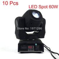 Wholesale Channel Business - Wholesale- 10 Pcs lot LED Spot 60W Stage Light DMX 9 11 Channels Business Light Professional LED Moving Head Light For Party Disco LED Lamp
