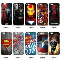 Wholesale Superman Case For Iphone - Marvel Avengers Superman TPU Back Cover Case for iPhone 7 Plus 6 6S 5S SE Batman Dark Knight Spider Ironman Captain America Shield