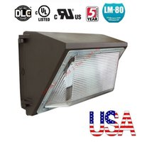 Wholesale Led Wall Light Kit - Stock In US + Outdoor Wall Lamp 120W led retrofit kits wall pack lamp fixtures led shoebox light ac 85-265v 5 years warranty
