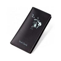 ingrosso portafoglio in pelle nera con zip-Dont Starve Wallet Black PU Short Purse per uomo in pelle borsa lunga con cerniera tasca carta di credito ID Carteira