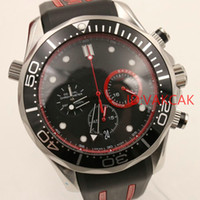 Wholesale Master Chronograph - 2017 new Professional Master Luxury Mens Watch Planet Ocean Si14 Quartz Movement Chronograph Rubber Strap Men Watches AAA quality male coloc