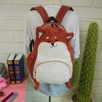 Wholesale Japanese Backpacks High School - Wholesale- 2016 Japanese cute cartoon animals backpack school bags for girls larger capacity corduroy backpack high school students bag