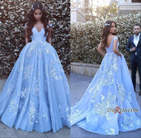 Wholesale Ice Blue Pageant Ball Gowns - Sheer Ice Blue Lace Formal Prom Dresses 2017 With Sexy Backless Arabic Dress Evening Wear Sleeveless Mermaid Pageant Gowns Plus Size
