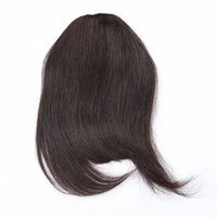 Wholesale fringe hair resale online - 100 Human Hair Fringe Bold Blunt Clip In Hair Bangs Brazilian Virgin Hair Colors Choose