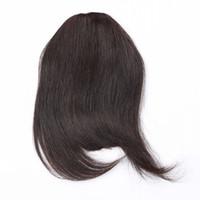 saçaklar toptan satış-100% İnsan Saç Saçak Bold Künt Klip Saç Patlama Brezilyalı Bakire Saç 7 Renk Seçin
