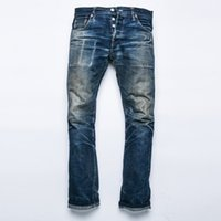 Wholesale Indigo Denim - Wholesale-2016 raw indigo selvage unwashed redline denim original design sanforised preshrink raw denim jean 16.5oz