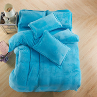 Wholesale Thick Comforters - Farai pure cashmere four piece thick super soft flannel bedding Suite Home Textile TY2072