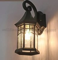 NOVO Vintage Cottage Porch Lights Waterproof Garden Lamp Luminária de alumínio de corpo levou lâmpadas europeias Outdoor Wall Lighting MYY