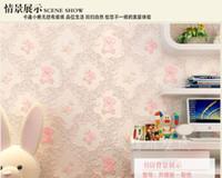 d rosa nia beb oso papel tapiz de dibujos animados pegatina nios habitacin wallpaper pegatina de pared