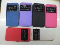 Wholesale Iphone 4s Windows View Cover - For Alcatel One Touch Pop 4 Plus Pixi 3 (5.0) OT-5015 Pixi 4 (5.0) 4G OT-5045 POP 4s View Windows Leather Case Flip Phone Cover Stand Case