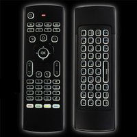 Wholesale Wireless Learning Remote Control - MX3 Backlight Wireless Keyboard 2.4G Wireless Remote Control IR Learning Air Mouse Backlit For Android TV Box PC A95X X96 TX3 Pro