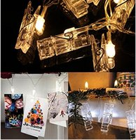 Cheap Garland 1M 2M LED String Lights Novelty Fairy Lamp Starry Battery Card Clip de fotos Luminaria Festival Christmas Wedding Decoration