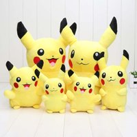 Wholesale Soft Toys Dolls - 2pcs lot 14cm 18cm 30cm Pikachu Pocket Doll Plush Toys Soft Stuffed Animal Toy Figure Collectible Doll Best Christmas Gifts
