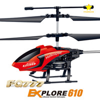 helicópteros remotos al por mayor-FQ777-610 RC Drone RC Mini helicóptero piloto de control remoto 3.5CH 2 RFT Gyro con paquete al por menor