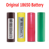 Wholesale Wholesale Batter - 100% Authenitc 18650 Battery HG2 3000MAH HE2 HE4 25R 2500mah Rechargeable Batteries Using Original Batter For LGCell