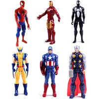 "Wholesale Spiderman Toys Doll - 12""30CM Super Hero X men Wolverine Spiderman Spider man Action Figure Doll Classic Model Toy As Gift PVC Free Shipping"