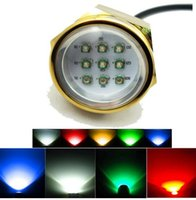Wholesale Waterproof IP68 RGB W Boat Drain Plug Light LED Boat Light Underwater Boat Lamp