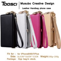Wholesale Branded Handbags For Girls - phone Cases Cover For iPhone 7 Plus Musubo Brand Luxury leather wallet case for iPhone 6 Plus 6s plus 7plus Girls phone bag coque capa