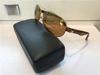 Wholesale Gold Temple - G-WA-Z02 Luxury Car Brand Maybach Sunglasses 18K Gold Plated Sunglasses Pilot Frame Spring Temples Men Brand Designer Sunglasses