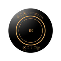 ingrosso stufa a pentola-196MM built-in desktop rotondo hot pot di induzione fornello touch mini elettrico stufa domestica commerciale fornello a induzione piano cottura 220 V 800 W