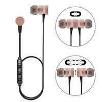Wholesale Ear Phones Bass - New 4.1 magnetic bluetooth earphones mini magnetic earphones headphone wireless bluetooth earbuds With Mic Super Bass Stereo For Phone spor