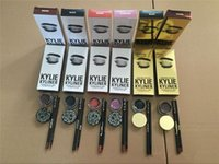 Wholesale Cosmetic Pots Wholesale - Kylie Cosmetics brithday edition kylie kyliner eyeliner and gel Gel pot Brush liner 6 types black  brwon chameleon bronze shipping free