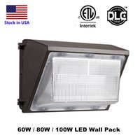 Wholesale Led Wall Packs Wholesale - Outdoor LED Wall Pack Light 60W 80W 100W Industrial Wall Pack Fixture Light Daylights 5000K AC90-277V CRI75 IP65 DLC ETL Listed
