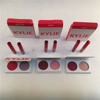 Wholesale Eyeshadow Lipgloss Set - Kylie Valentines Collection Kyshadow Eyeshadow +Lipstick Duos Kylie Jenner 2 color Eye Shadow With 2pcs Lipgloss Smooch Kiss me Sweet Heart