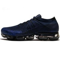 Wholesale Knitted Soft - 2018 New VaporMax Men Running Shoes For Men Sneakers Knitting Fashion outdoor trainers Athletic Sport Shoe Full palm air cushion size5-11