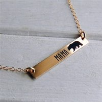 Wholesale Cute Gold Necklaces - 2017 Fashion Cute Mama bears Pendant necklaces Personalized letters chocker necklace Warm motherly love For Mothers' Day Gift