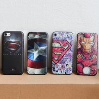 Wholesale superman covers - Hot Ultra Slim TPU Soft Superman hero Phone Case Iron man Spiderman Captain American Covers For iphone X 5 6 7 8 Plus