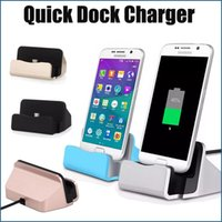 Wholesale Docking Stations Micro Usb - Micro USB 2.0 Quick Charger Docking Stand Station Charging Dock For Type-c i6 i7 Plus For Samsung S8 S6 S7 edge