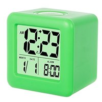 Wholesale Aa Wholesale Clocks - Silicon Cube Led Alarm Clock Large Display with Nightlight and Snooze, operated with 2 AA battery