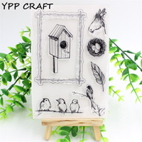 Großhandel-YPP CRAFT Cage Transparente Clear Silikon Stempel für DIY Scrapbooking Planer / Card Making / Kids Crafts Fun Dekoration Lieferungen