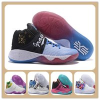 Wholesale Bright Orange Fabric - Discount Kyrie Irving Men Basketball Shoes Kyrie 2 Bright Crimson Tie Dye BHM All Star Basketball Sneakers High Quality For Sale Sports shoe