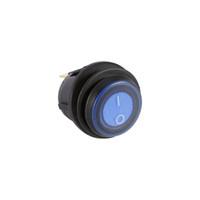 interruptor de palanca de 12v led al por mayor-Universal 12V Auto Car LED azul Luz iluminada con./desc. Toggle Rocker Switch 3P SPST impermeable