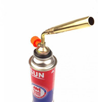 Wholesale 1Pc Metal DAS Butane Blower Welding Outdoor Camping BBQ Picnic Gas Torch Lighter Flame Gun Barbecue Stoves Firing Tool gas cylinder Lighters