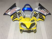 3 Obsequios Nuevos Kits de carenado para KAWASAKI Ninja250R 250R EX250 2008 2009 2010 2011 2012 Ninja set carenados carrocería Yellow Blue Ag2