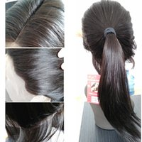 Wholesale 28 Inch Lace Front Wig - Long straight human hair 8~26 inches Peruvian full lace wigs for black women with baby hair