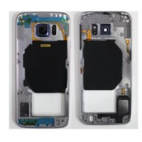 Wholesale Top Glasses Camera - OEM top quality Bezel Frame Case with Camera Glass Single Card Version for Samsung Galaxy S6 G920F G920A G920P Free Shipping via DHL